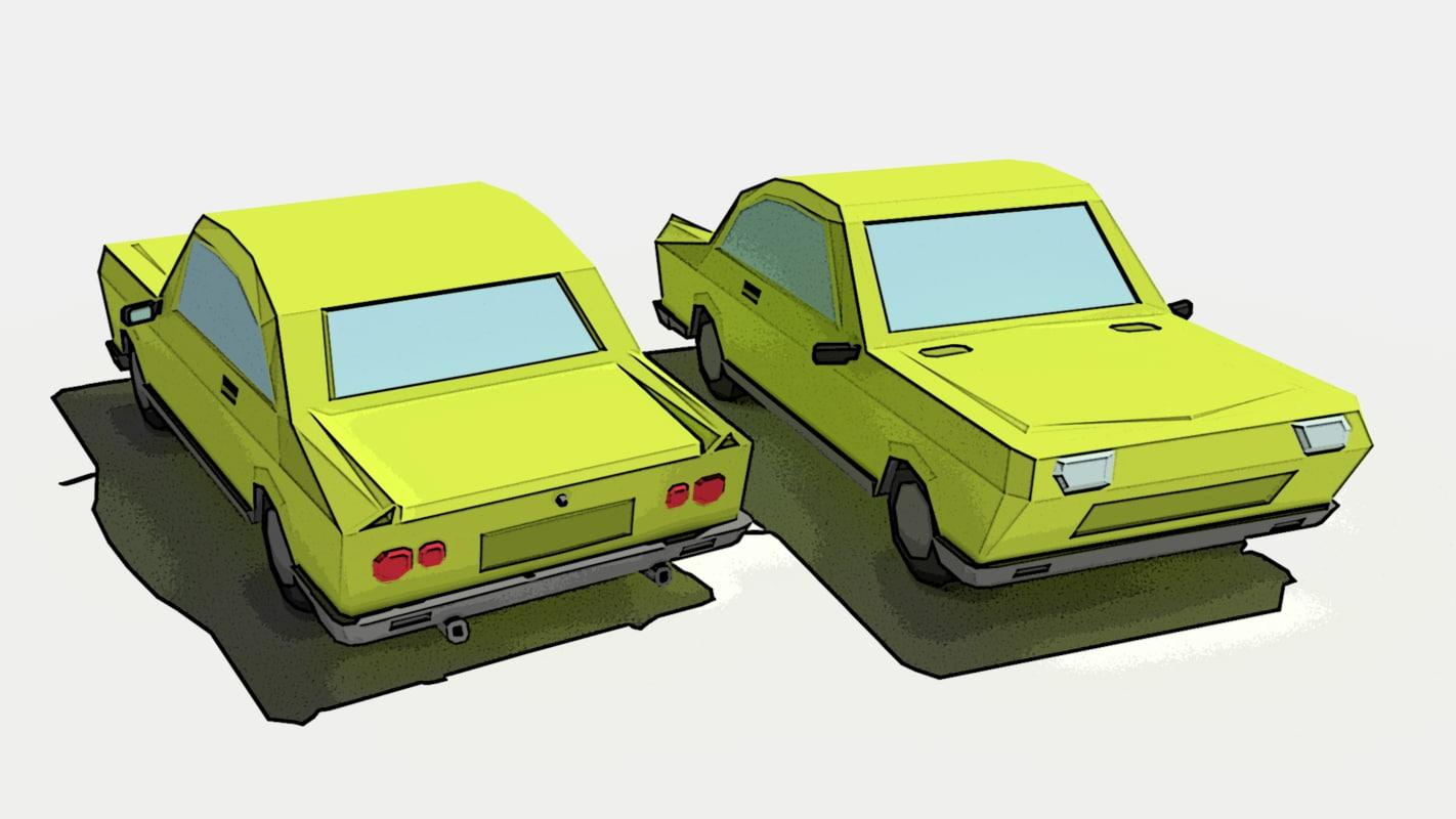 3d model cartoon car vehicle