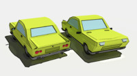 3d model cartoon car vehicle