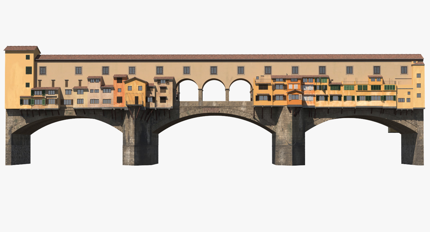 3d ponte vecchio bridge florence