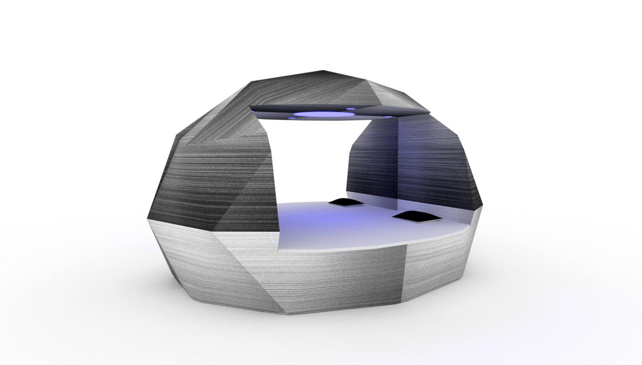 ico sphere smart bed 3d model
