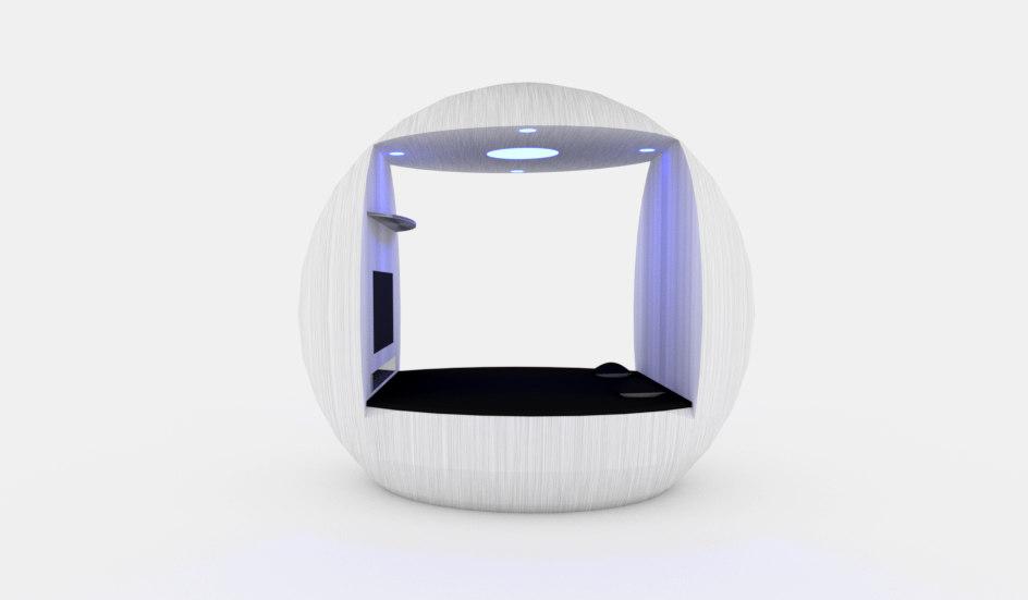 spheric smart bed 3d obj
