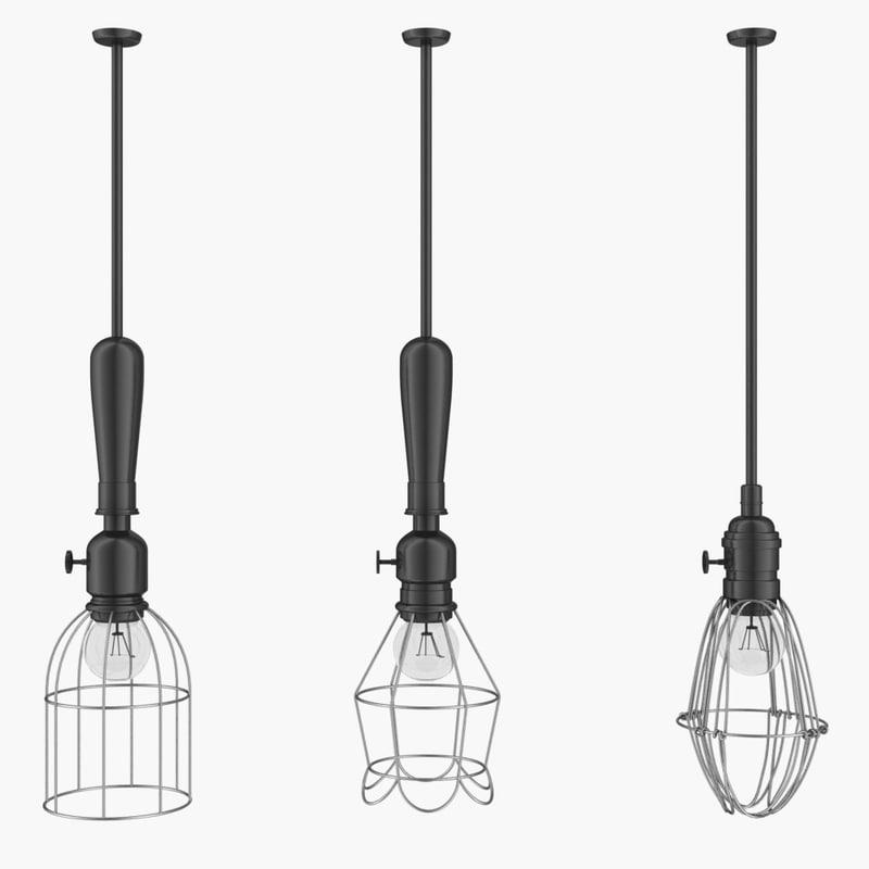 3d model industrial lamp
