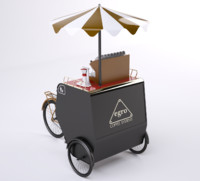 3d model mobile shop coffee