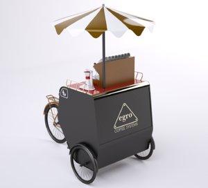 3d model mobile shop coffee