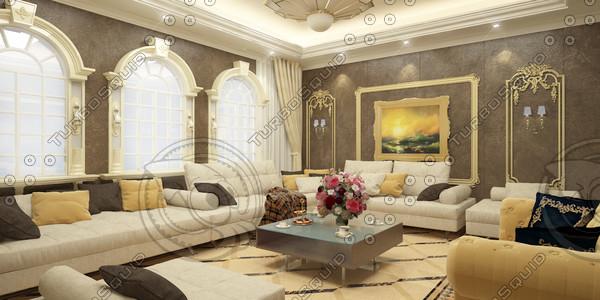 3d model of interior scene