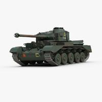 british a34 comet tank 3d max