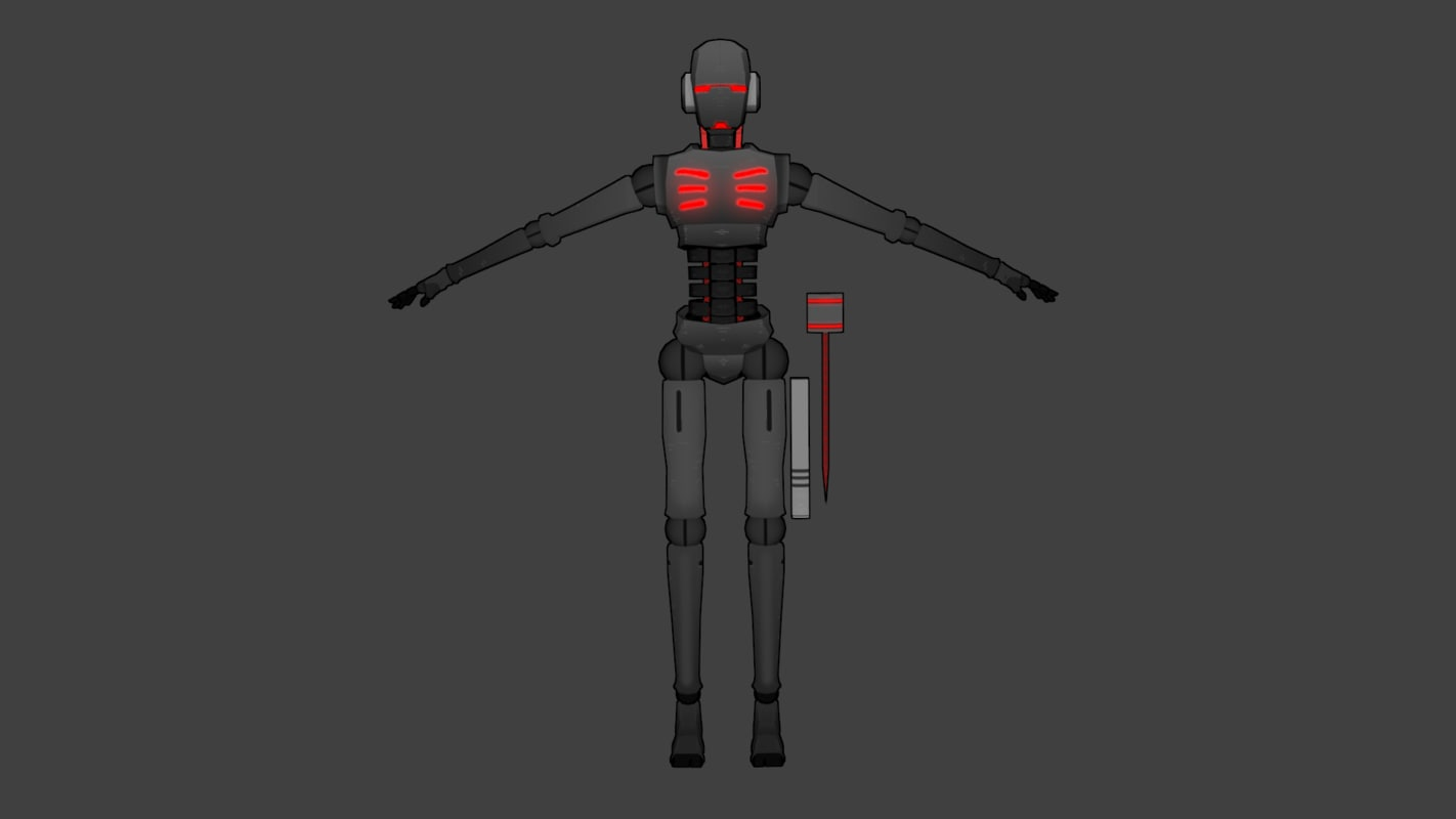 humanoid g7bot 3d 3ds