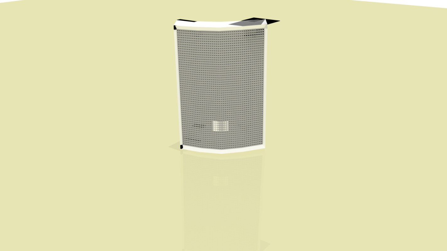 3d loud speaker model