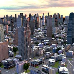 cityscape scene highrise 3d max