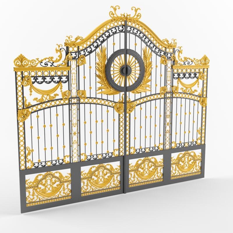 3d model buckingham palace gates