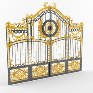 3d model buckingham palace gates