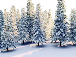 obj frozen forest hd pack