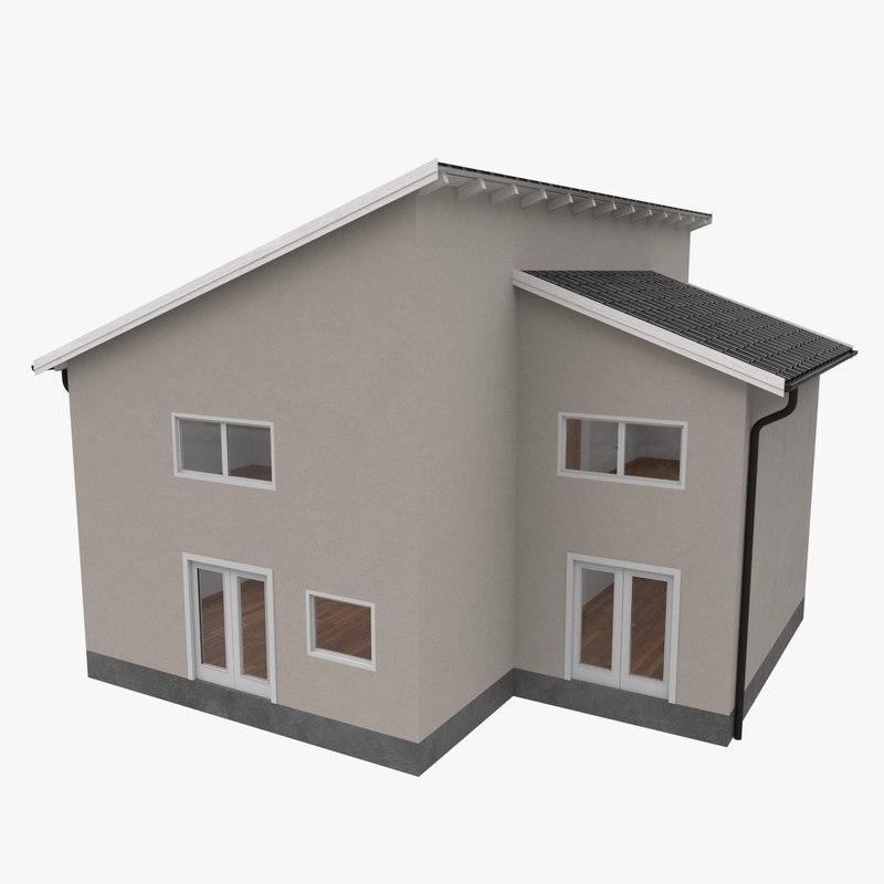 3ds modern building interior