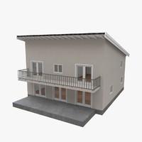 modern building interior 3d model
