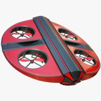 quads concept ii drone 3d obj