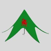 welsh dragon tent 3d model