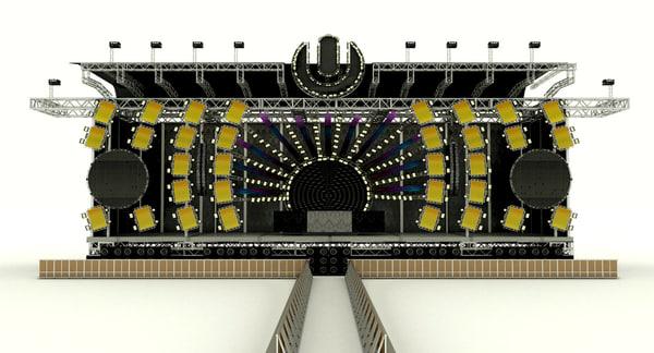 3d umf-ultra music festival miami model