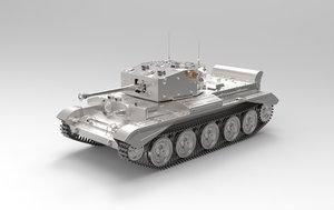 cromwell tank highpoly 3d model