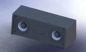 speakers centr f-d - 3d max
