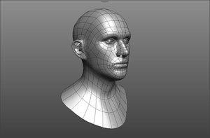 character head 3d obj