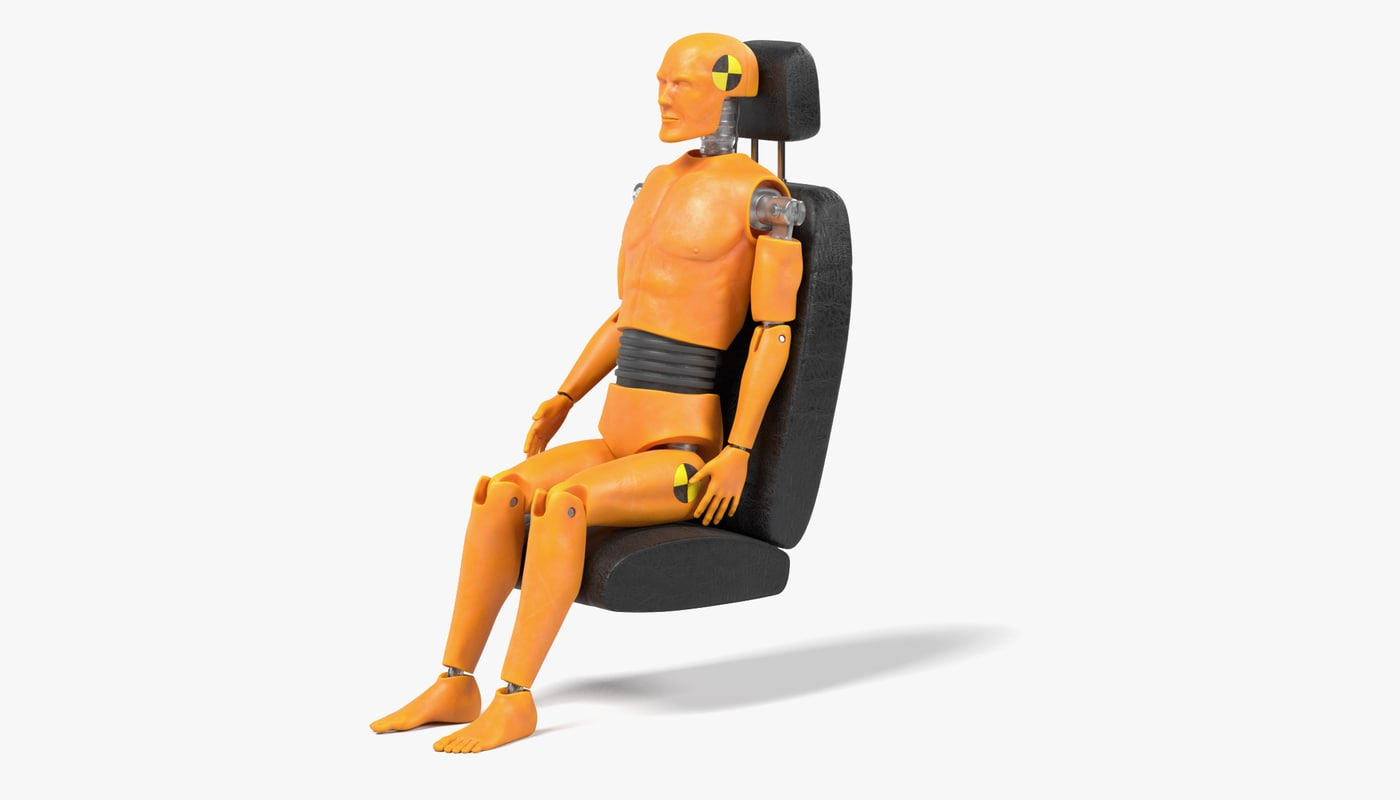 crash test dummy car seat 3ds