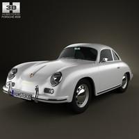 porsche 356a 356 3d model