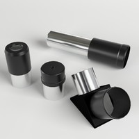 3d x telescope optics parts