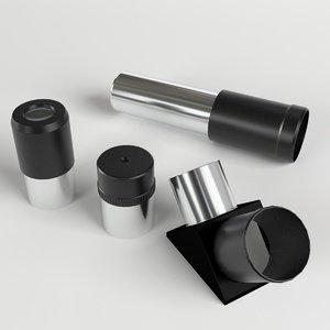3d x telescope optics parts
