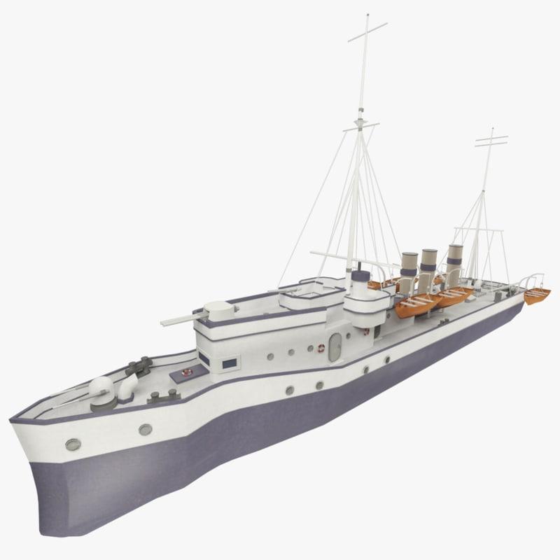 background steamship zorkiy 3d model