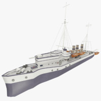 background steamship zorkiy 3d model