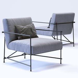 3d model ditre italia kyo armchair