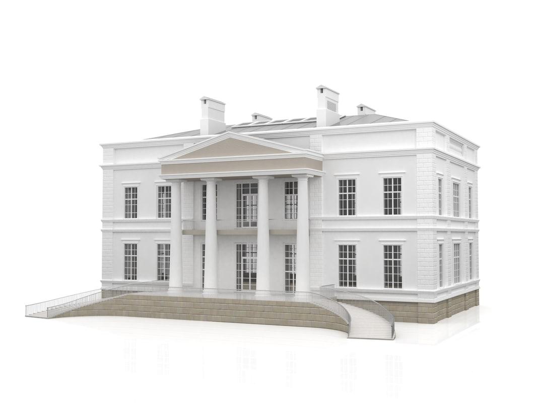 house columns 3d model