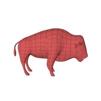 3d base mesh bison