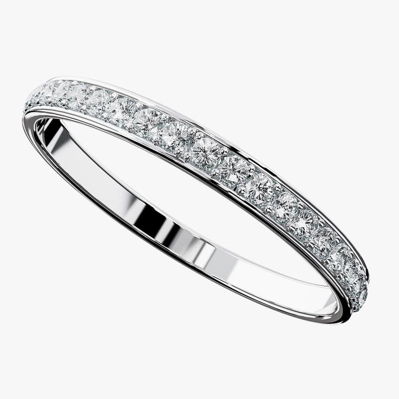 3d model of diamonds ring