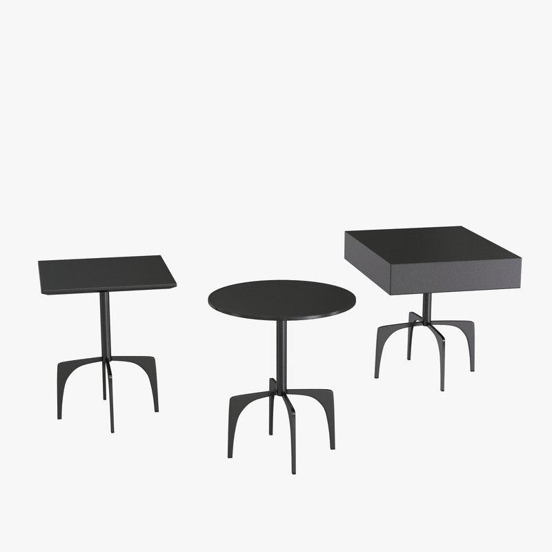 3d model of furniture clark gray table