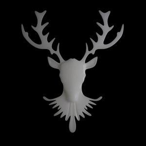 deer neckless 3d model