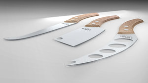 3d cheese knife set