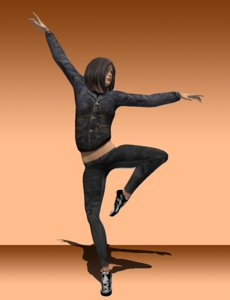rigged character dancer 3d model