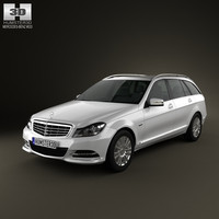 mercedes-benz c-class c 3d model