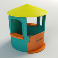 3d plastic toy house model
