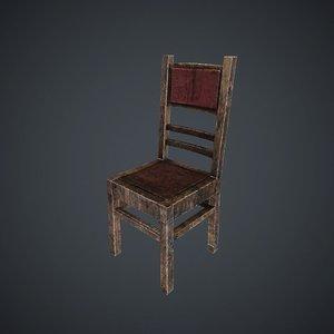 3d chair home model