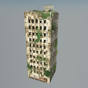 destroyed building ruin 3d model