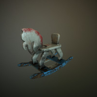 3d old toy horse model