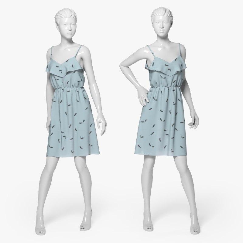 3d summer dress