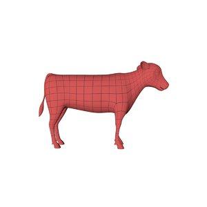3d base mesh calf