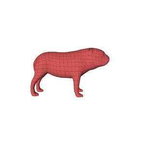 3d base mesh bulldog