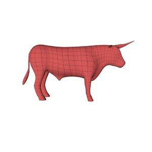 base mesh bull 3d model