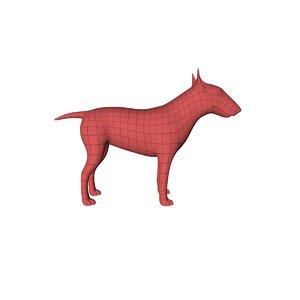 3d base mesh bull terrier