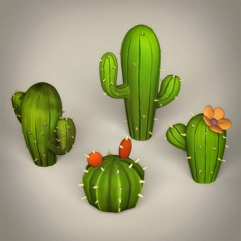 fantasy cactus 3d model