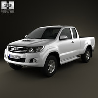 3d model toyota hilux extra